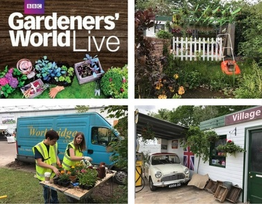 Team get ready for BBC Gardeners' World Live!