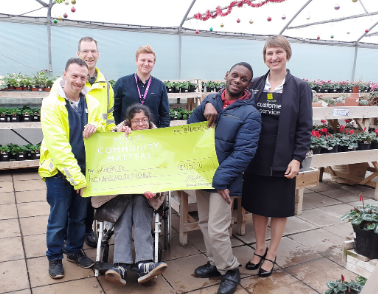 Workbridge receive £560 in the Waitrose Community Matters Scheme