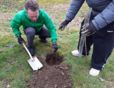 105 Woodland Trust trees planted by Workbridge